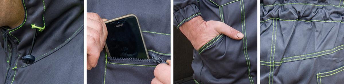 Gute Qualität, praktische Taschen