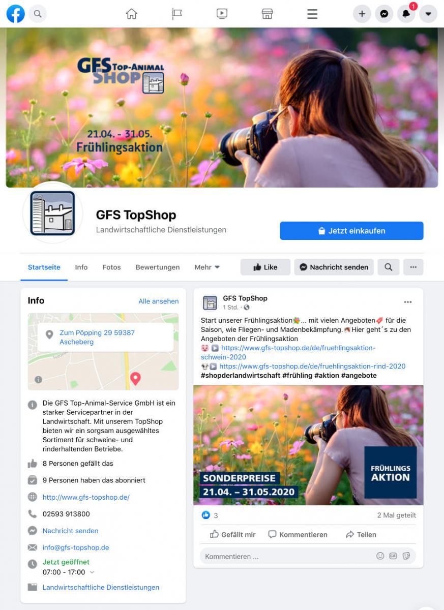GFS TopShop auf Facebook