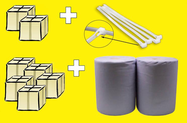 Pipettenaktion: Kabelbinder oder Putzpapier Maxi gratis