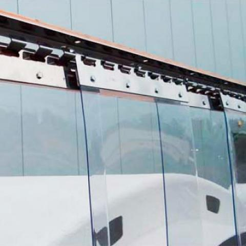Streifenvorhang aus PVC-Lamellen