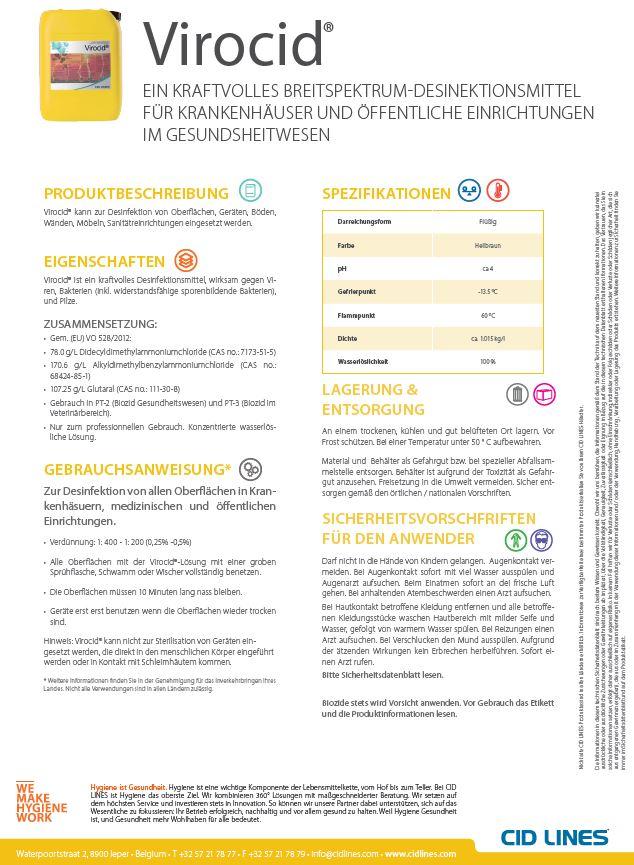 Informationen zum Virocideinsatz in der Humanmedizin