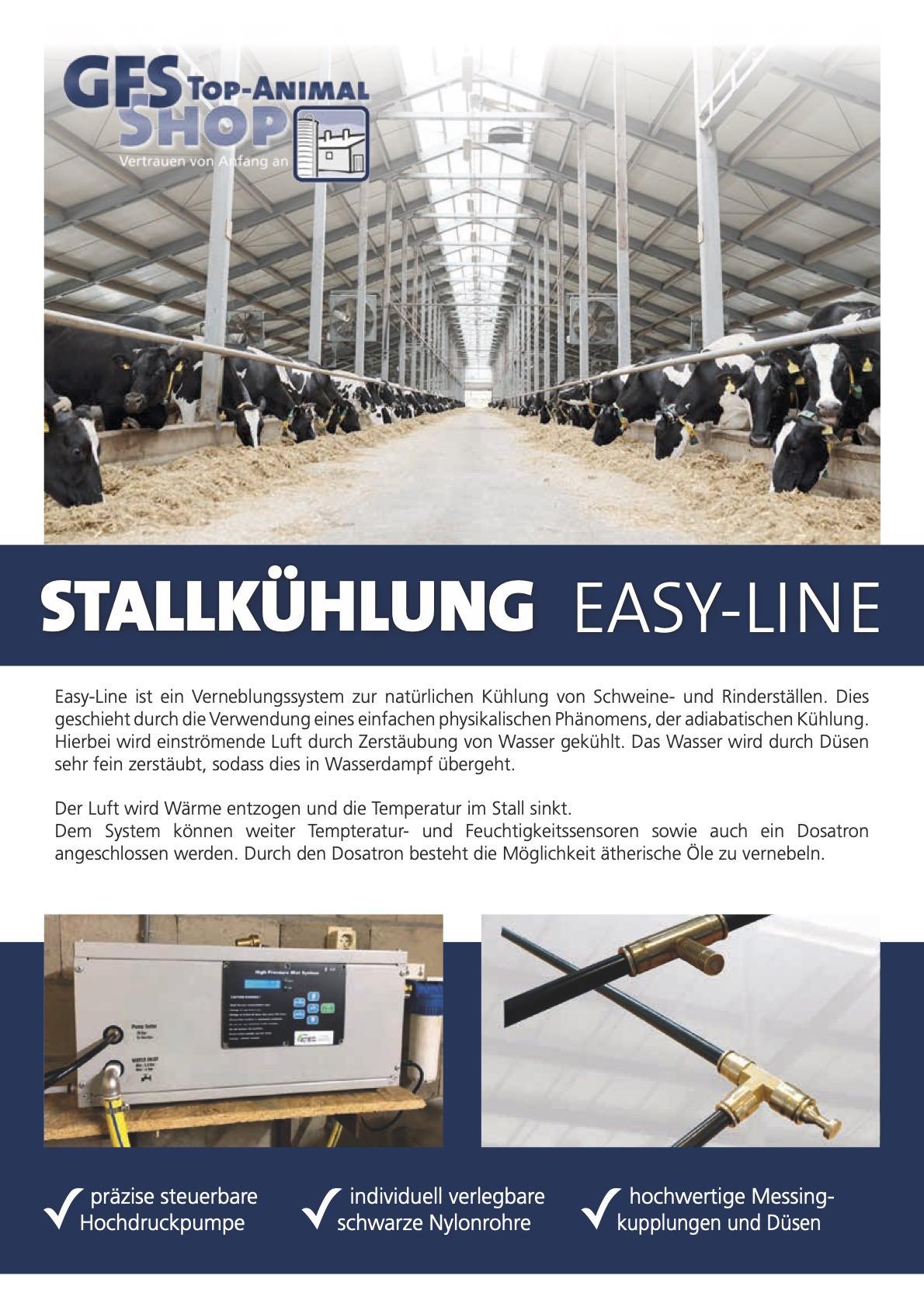 Stallkühlung Easy-Line Rind