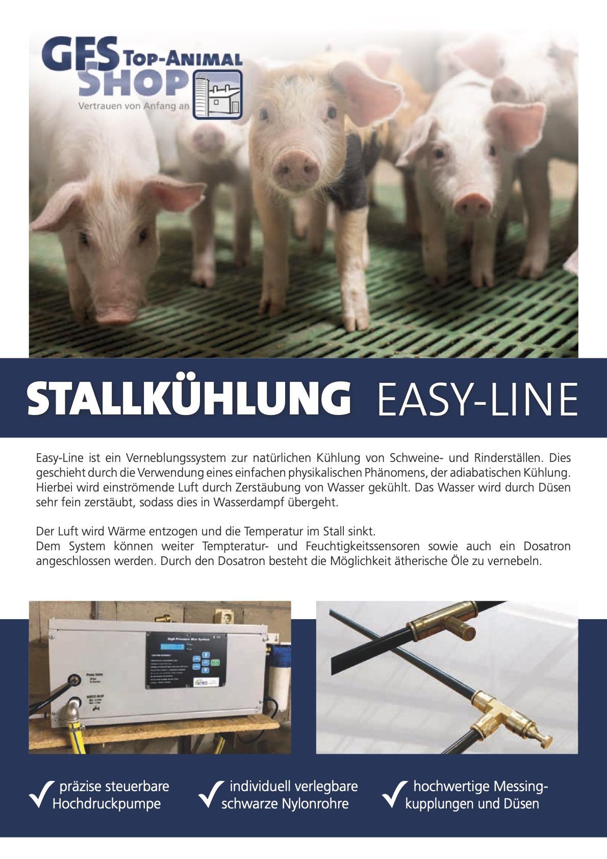 Stallkühlung Easy-Line Schwein