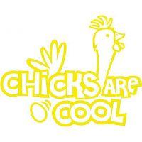 """T-Shirt """"Chicken are cool"""" Damen #1"""