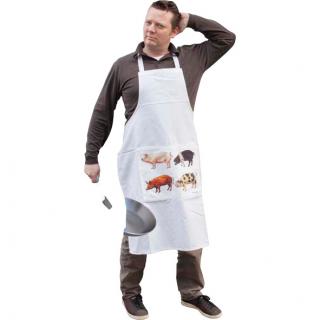 Kochschürze mit Schweinemotiv