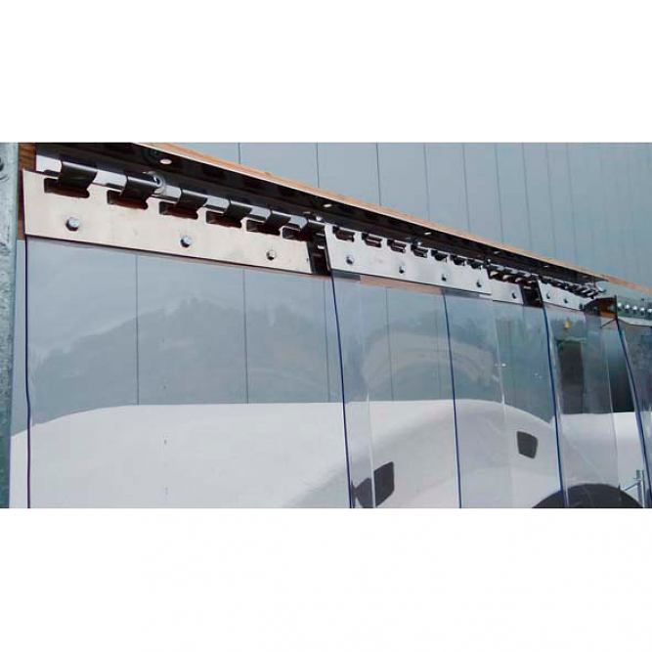 VZ PVC Streifenvorhang Lamellen 3x300mm H2,00 x B1,50 m fertig vormontiert