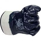 Nitril-Handschuh blau mit Stulpe